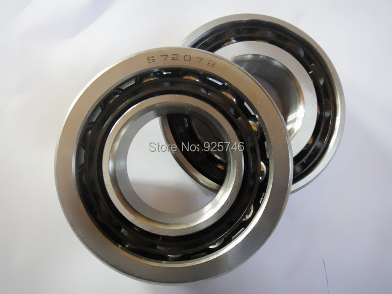 Stainless Steel  Angular Contact Ball Bearing 7207 S7207B  size:35x72x17<br>
