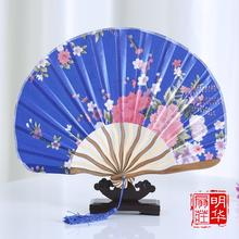 Chinese Silk Folding Fan classical knife fan ancient wind Wedding Christmas Party gift fans Handmade Decoration supplies
