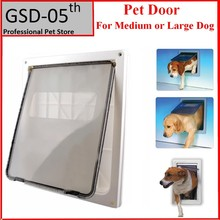 Large Dog Door ABS Plastic White Safe Pet Door For Large Medium Dog Freely In and Out Home Gate Animal Pet Cat Dog Door ASAF(China)