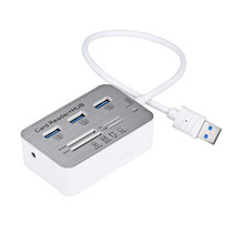 HIPERDEAL Advanced tablet notebook  hab otg multi  3 Port Aluminum USB 3.0 Hub With MS SD M2 TF Multi-In-1 Card Reader 1PC