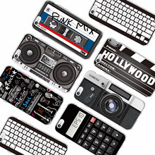 For iPhone 6 6Plus 6S 7 7Plus 8 8Plus X SAMSUNG Retro Camera Cassette Tapes Boombox Calculator Keyboard Soft Phone Case Fundas(China)