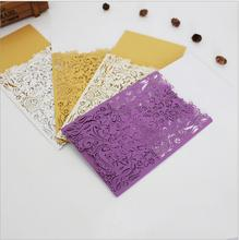 New arrival hollow out lase cutting wedding Invitions cards with creature Europe elegant shipper in china without  envelope