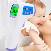 2017 High Quality Brand Baby Fever Medical Lcd Digital Infrared Body Thermometer Electronic Forehead Kids Health Laser(China)