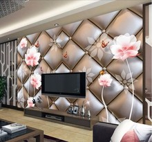 beibehang papel de parede 3d photo wallpaper silk cloth wallpaper for living room bedroom soft pack lotus large mural wall paper(China)