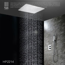 HPB Brass Bathroom Thermostatic Water Mixer Ceiling Mounted Shower Head Bath Rain Shower Set Faucet torneira banheiro HP2214