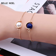 Hot-selling Marble Monsoon Individuality Semicircle Ornaments Bracelet Fine Gift Jewelry SZ18(China)
