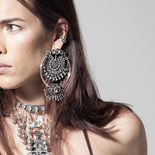 2017 New Fashion Style Bohemian Beautiful Crystal Earrings Bead Statement Big Earrings For Women High Quality(China)