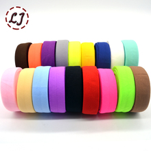 New brand 3/4''(20mm) matt color binding tape elastic ribbon webbing trim lace solid headwear handmade DIY decoration crafts(China)