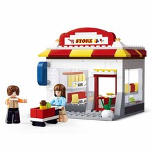 Convenience Store SimCity Building Blocks Bricks Toys Forge Mini World Kids Set Model Gifts Compatible Friends