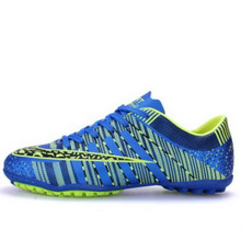 Kids Soccer Shoes 2017 New Top Quality Kids Indoor Sport Sneakers China Factory Direct Children Sneakers For Boys And Girls(China)
