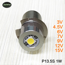 1w P13.5s 3v 3.7v(3.4-4.2v) 4.5v 6v 7v 9v 12v 15v LED flashlight torch bulbs with Epister chips led flashlight bulb light 1watt