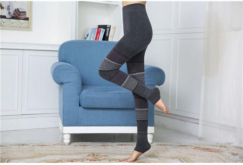 Winter Leggings, Women's High Waist Warm Leggings 5