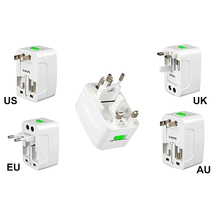 All in One International Travel Power Charger Universal Adapter AU/UK/US/EU