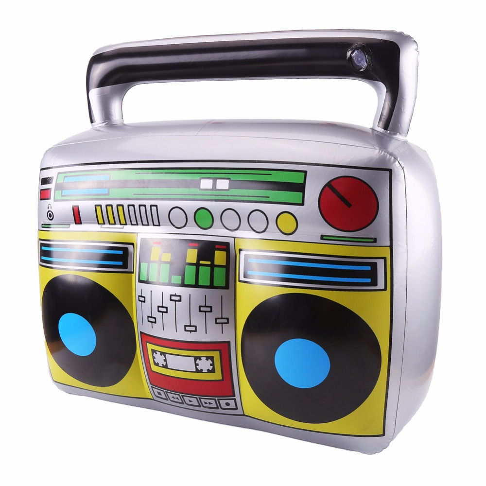 ccinee 1 pcs pvc radio children inflatable toys kids classic radio recorder shape toys for home musical party decorayion - Kids Halloween Radio