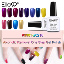 Elite99 10ml Alcoholic Removal One Step Nail Gel Varnish Long Lasting 3-in-1 Nail Gel Polish All 100 Gorgeous Colors Wholesale(China)