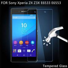 For Sony Xperia Z4 Z3X E6533 E6553 Tempered Glass Screen Protector Film Screen Protective Film 9H 2.5D with retail box