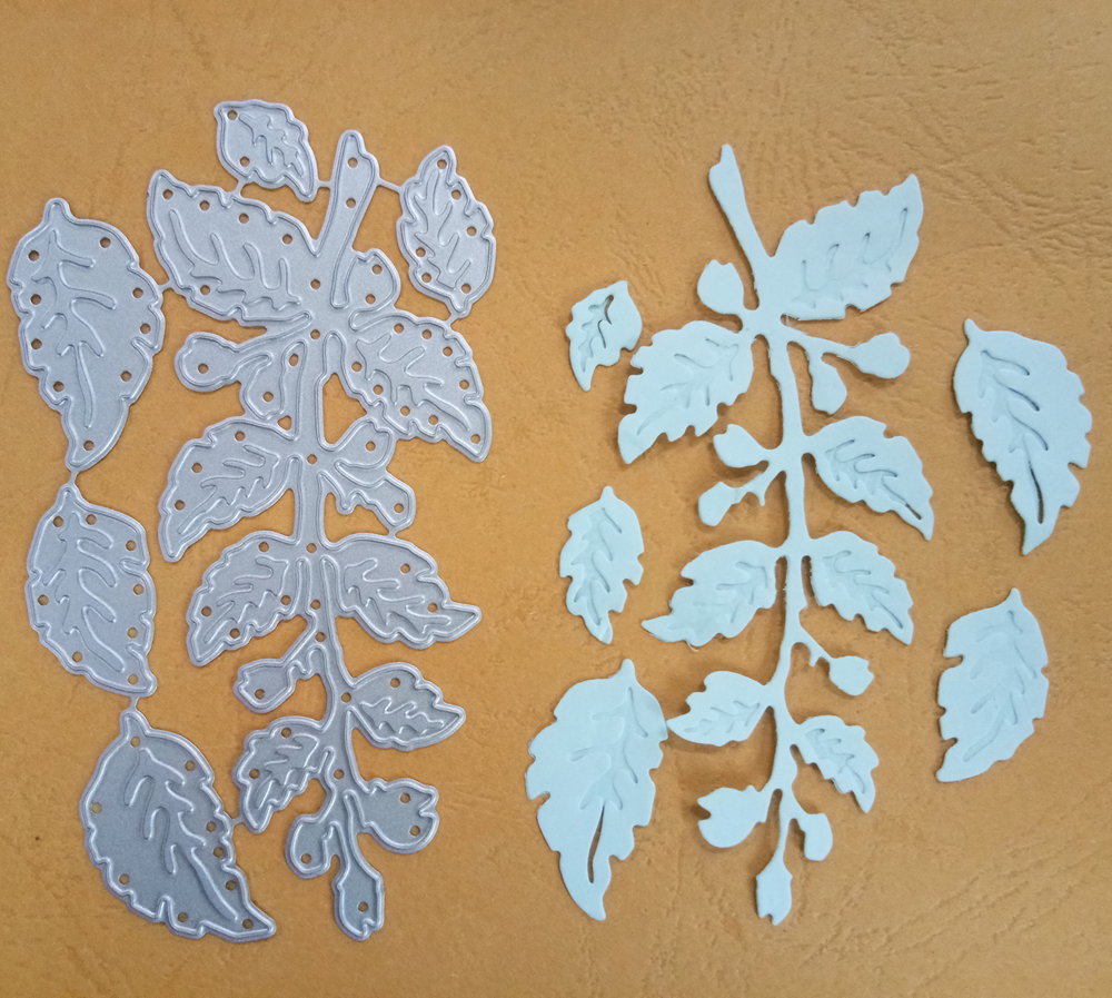 Metal Cutting Dies Trees Leaves Scrapbook DIY Card Album Paper Embossing Stencil