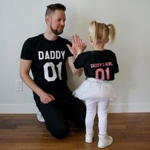 2017 New Arrival Family Look Summer T-shirt Father And Daughter Letter Design Family Matching Outfits Short Sleeve T Shirts(China)