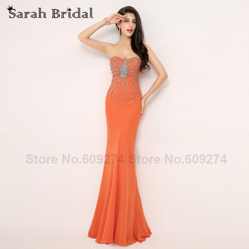 Popular Orange Sweetheart Mermaid Prom Dress-Buy Cheap Orange ...