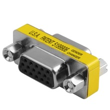 New Female to Female VGA HD15 Pin Gender Changer Convertor Adapter for Monitors Projectors VGA Splitters KVM Computer Wholesale(China)