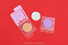 50pcs/lot 100pcs/lot 36.5mm Empty Cosmetic Accessories, Clear Plastic Blister Packing, Eyeshadow Sample Comapcts