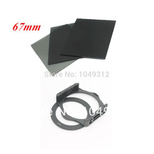 "lower price 100% GUARANTEE 3pcs full 4""x4"" ND2 ND4 ND8 + 67 mm Adapter Ring +filter Holder For Cokin P Series new(China)"