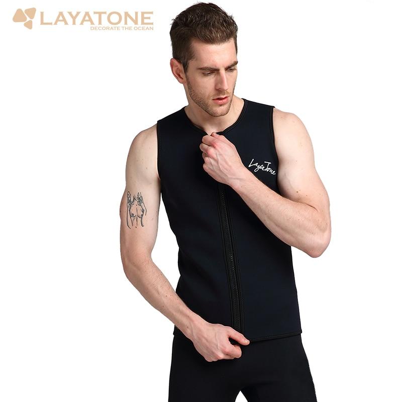 Layatone Wetsuit Vest Top Premium 2Mm Neoprene Diving Surfing Canoeing Suit Men