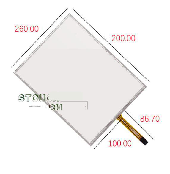 12 inch five wire resistive touch screen G121SN01 LT121SS-105 G121X1-L04 handwriting screen 260*200<br>