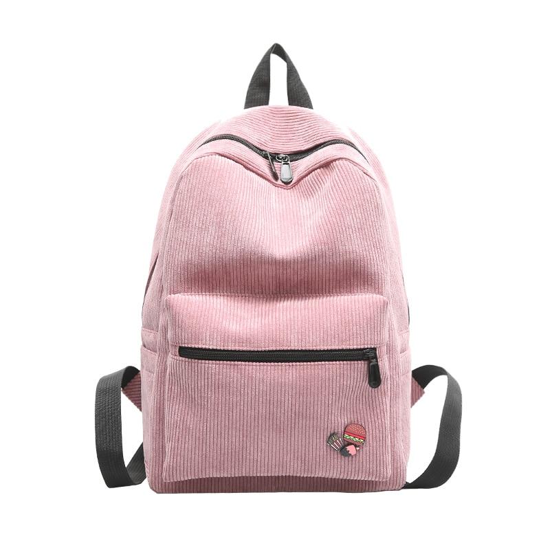 2017 Winter New Korean Fashion Retro Corduroy Leisure Backpack Backpack Bag Women Bag Mori Backpacks For Teenage Girls<br><br>Aliexpress