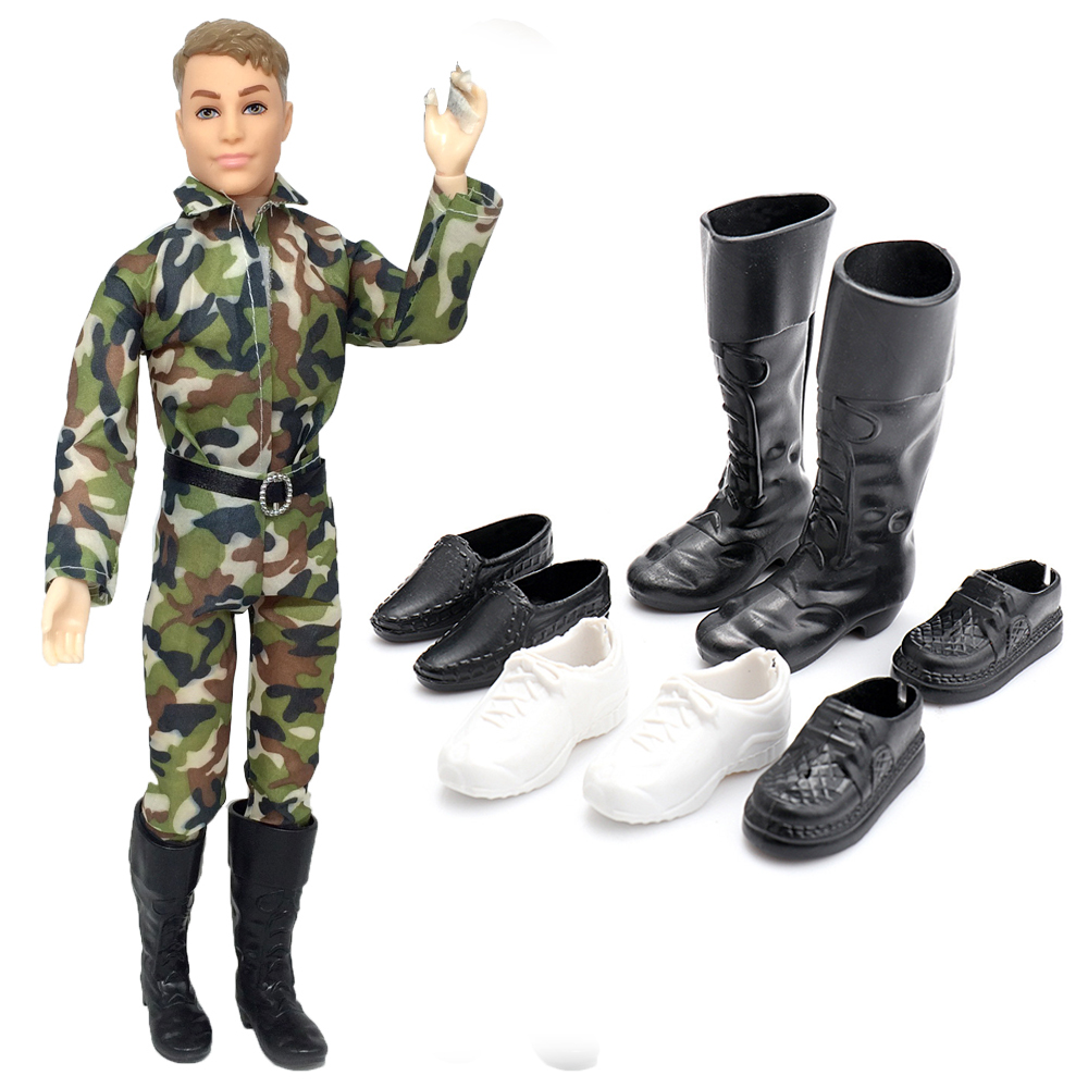 5PCS Set Outfit Doll Clothes+bag+boots For 11 in Doll a02