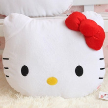 Lovely Juguetes Pillow Soft Stuffed Hello Kitty Plush Toys Cushion Pelucia Neck Pillow KT Car Cushion Decoration Gift(China)