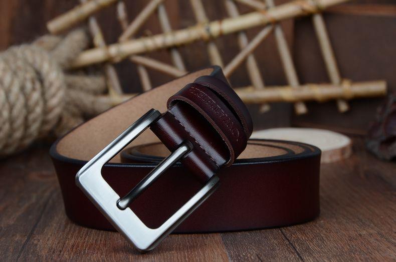 حزام COWATHER جلد طبيعي للرجال 29