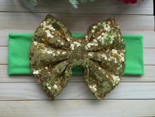 10pcs/lot Free Epacket/CPAP Metallic Messy Bow Head wraps, Jersey Knit Headwraps,Gold Bow Cotton Headband, Hair Accessory
