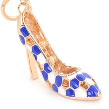 Luxury crystal high heel shoe key chain fashion shoes key ring women hangbag charm pendant high quality design new arrival(China)