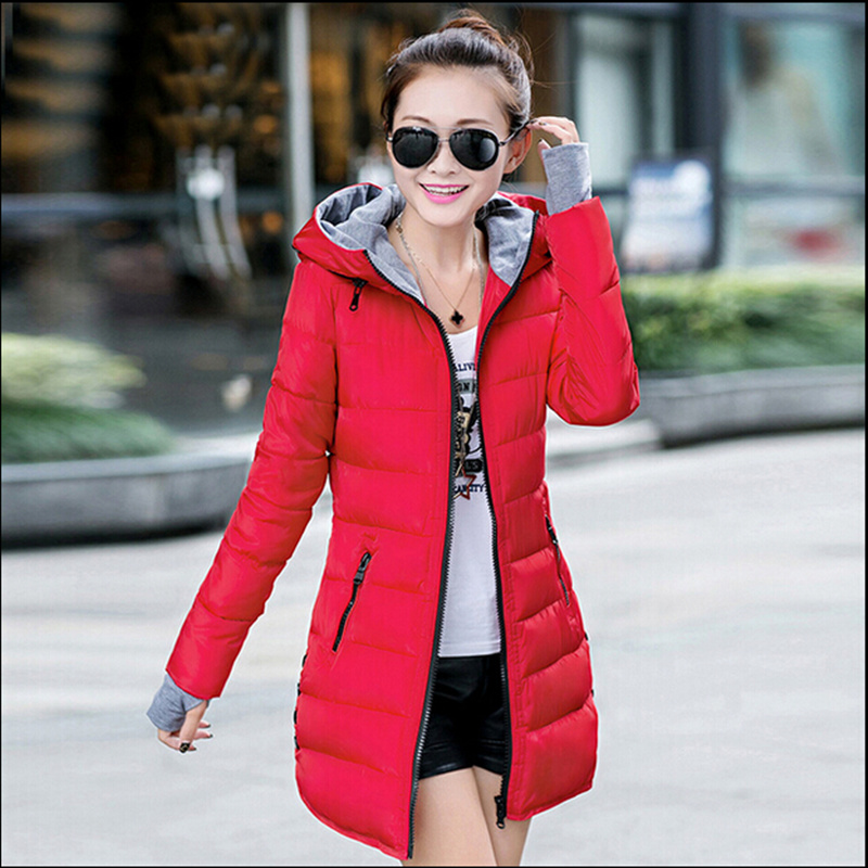 Girls temperament ladies cotton long section of Korean winter light feather thin cashmere thick padded Slim thin femaleОдежда и ак�е��уары<br><br><br>Aliexpress
