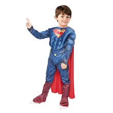 Purim Superman Costume For Kids 110 Between 140cm Halloween Childrens Superman Costume Cosplay Party Superman Dress For Kid(China)