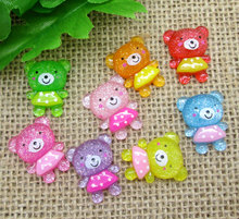Buy 50Pcs Mixed 21x17mm Cute Bear Resin Decoration Crafts Beads Flatback Cabochon Scrapbook DIY Embellishments Accessories Buttons for $2.74 in AliExpress store