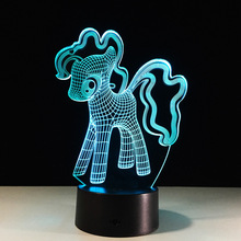 Cute Dog Enterprise Home Decor USB Flash Party Atmosphere Luminarias Touch 7 Colors Changeing LED Illusion Nightlight Lamparas