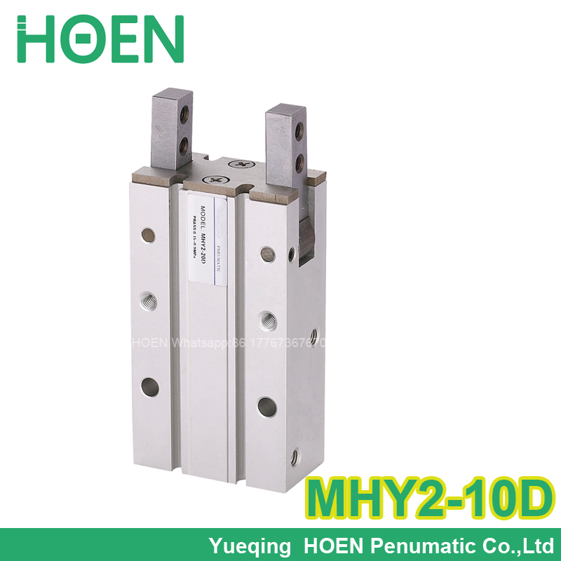 High quality double acting pneumatic gripper air cylinder MHY2-10D SMC type 180 degree angular style aluminium clamps<br>