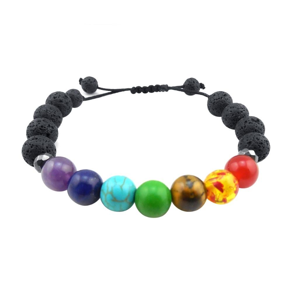 ZP-BS379-6 Lava Chakra Diffuser Bracelet
