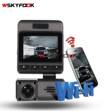 2.4 inch 1080P 170 degree WDR auto camera Night vision camera car WiFi wireless Real time monitor app dashcam