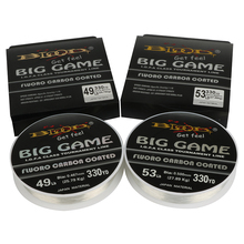 Goture BIG GAME 300M Fluorocarbon Fishing Line 10LB-62LB 0.16MM-0.6MM Fluoro Carbon Coated Transparent Lure Fishing Leader Line