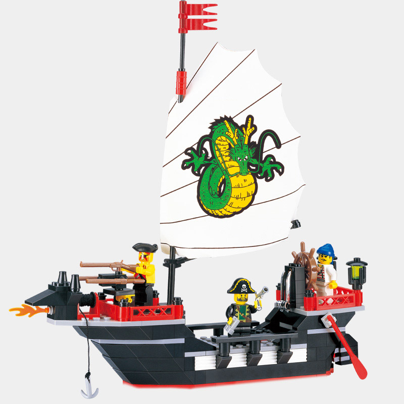 Building Blocks Pirate Ship Barbara DIY Assembling Toys for Children Birthday Gift 211pcs 301<br>