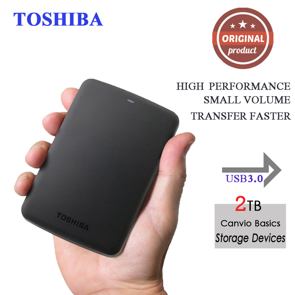 "Toshiba Canvio Basics 2.5"" Portable external hard drive disk 2tb hdd usb3.0 externo disco Storage Devices for Laptop Desktop(China (Mainland))"