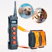Free shipping 1000 meters range Aetertek At-919C-2 Rechargeable Auto Anti Bark Dog Trainer collar Submersible Dog Shock Collar