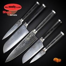 Damascus Kitchen Knife Sets Chef Utility Santoku Cleaver Paring Slicer  Knives Japanese Quality Vg10 Steel Micarta