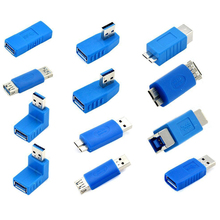 12PCS/Pack USB 3.0 Male to Female Plug Connector Adapter Converter with Different Directions USB3.0 Connector For Computers