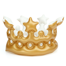 Hot Sale Happy Birthday Dancing Gift Novelty Inflatable Crown King Imperial Crown Hats Headwear For Party Decoration Toys
