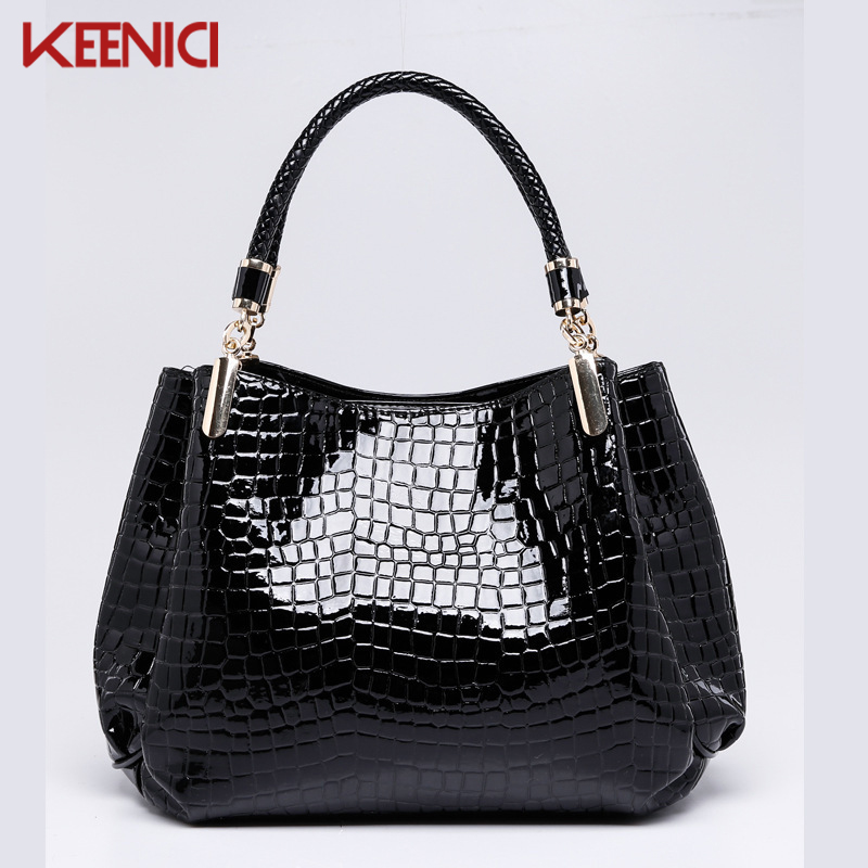 Designer Brand Leather Bolsas Femininas Women Bag Ladies Pattern Handbag Patent Leather Shoulder Bag Tote Sac Crocodile Bag<br><br>Aliexpress