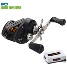 TOMOUNT Demick Left Handed Low Profile 9+1BB Baitcasting Fishing Reel Baitcaster Black Lure Reel Metal 6.3:1 Outdoor Supply NEW